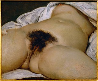 <i>LOrigine du monde</i> oil-on-canvas painted by Gustave Courbet