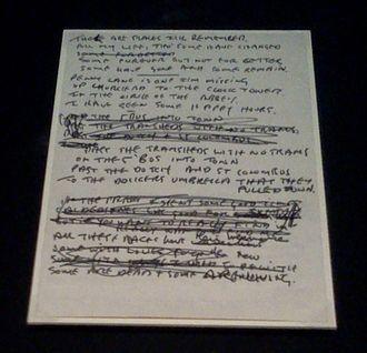 "In My Life - Original hand-written lyrics to ""In My Life"""