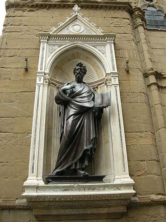Lorenzo Ghiberti - Image: Orsanmichele, san matteo di Ghiberti 02