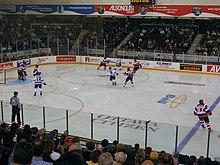 """Ottawa playing with its """"barberpole"""" jerseys."""