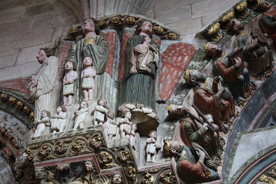 Ourense, catedral, portico Paraíso 03-27