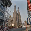 Overzicht van de westgevel met dubbel torenfront, gezien vanuit het noord-westen - Eindhoven - 20379627 - RCE.jpg