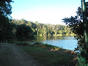 Oxenford, Queensland - View from Old Tamborine Road overlooking the Coomera River