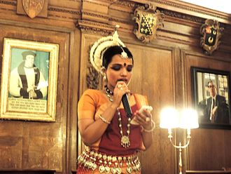 Baisali Mohanty - Baisali Mohanty giving a talk on Odissi dance at Oxford University