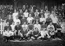1906 joint team photo of Oxford University RFC and the South African national rugby union team
