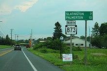 Pennsylvania Route 873 - Wikipedia