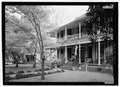 PERSPECTIVE VIEW LOOKING FROM THE NORTHEAST - Dismukes House, 236 Second Street, Natchitoches, Natchitoches Parish, LA HABS LA-1347-2.tif
