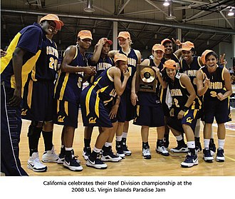California Golden Bears women's basketball - California Team photo 2008, Paradise Jam Tournament winner