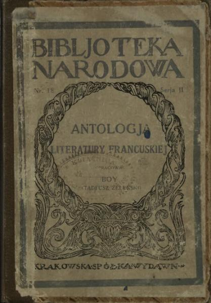 File:PL Boy - Antologia literatury francuskiej.djvu