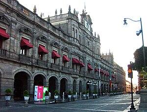 Municipal seat - Municipal palace in Puebla City, seat of govertment.