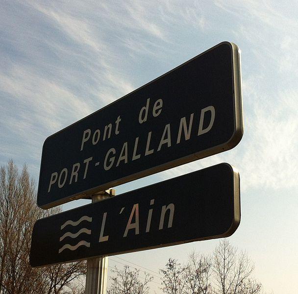Panneau du pont de Port-Galland.