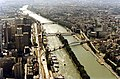 Paris View from the Eiffel Tower third floor Seine downstream 07.jpg