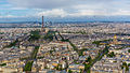 Paris as seen from the Tour Montparnasse, 11 May 2014.jpg