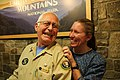 Park volunteer Pat Carbone and Ranger Jennifer Hale share a laugh at the 2018 Festival of Christmas Past, December 8, 2018--Warren Bielenberg (46079968285).jpg