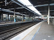 Parramatta railway station platforms from Westmead end