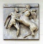 Parthenon south metope 07 - casting in Pushkin museum.jpg