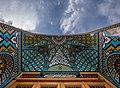 Parvin E'tesami tomb in Atabaki sahn in Fatima Masumeh Shrine, Qom,Iran.jpg