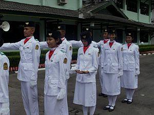 Paskibraka - Paskibra students line-up before marching