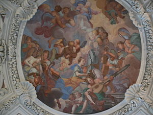 Carlo Antonio Bussi - Carlo Antonio Bussi, Angel Concert, painting under the organ loft of the St. Stephan's Cathedral, Passau, 1687/1688