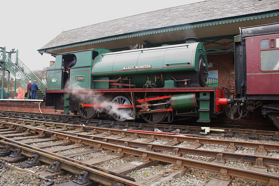 Peckett and Sons OQ Class 0-6-0ST No. 2150 Mardy Monster at the Elsecar Heritage Railway