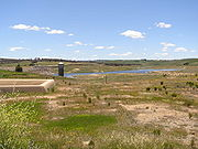 Pejar dam, the water supply for Goulburn in November 2005