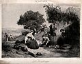 People harvesting the grape crop. Process print by de Pernal Wellcome V0039605.jpg