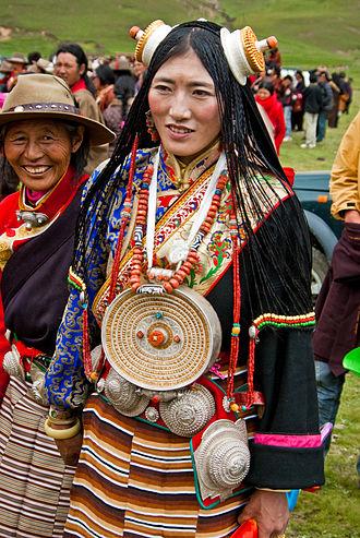 Chuba - Young Woman wearing a chuba