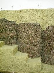 Конусная мозаика, Урук, Месопотамия, 3тыс. лет до н.э.