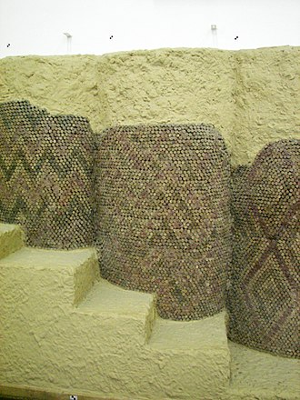 Mosaic - Cone mosaic courtyard from Uruk in Mesopotamia 3000 BC