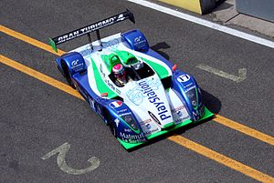 Franck Montagny - Montagny driving for Pescarolo Sport during practice for the 2006 24 Hours of Le Mans.