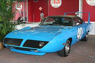 Pete Hamilton - A street replica of Pete Hamilton's Plymouth Superbird, with which he won the 1970 Daytona 500.
