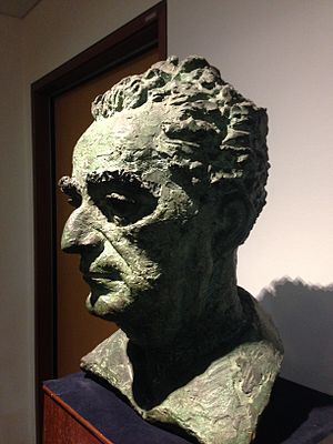 Peter Lambda, Bust of David Marshall (1956), School of Law, Singapore Management University - 20150401-04