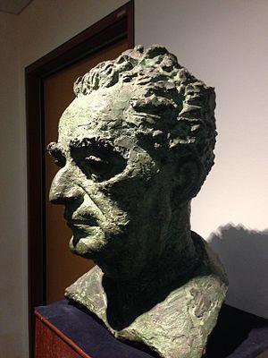 Peter Lambda, Bust of David Marshall (1956), School of Law, Singapore Management University - 20150401-04