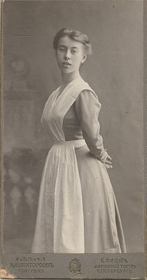 Photograph of Bronislava Nijinska, graduation picture, 1908.jpg