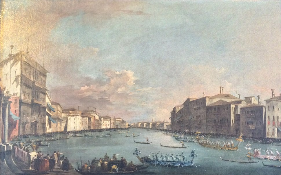 Photograph of Guardi's Regatta in Venice at the Frick Art Reference Library