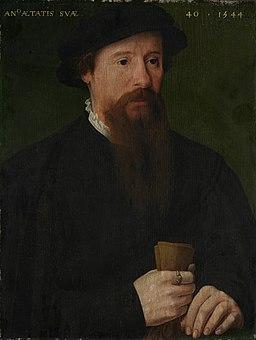 Pieter Pourbus (II) of Meester van de 1540s - Portret van een man (1544)