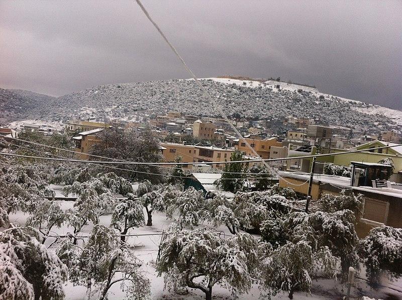 כפר חורפיש בשלג