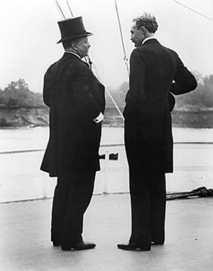 Gifford Pinchot - Theodore Roosevelt and Gifford Pinchot on the steamer Mississippi, 1907