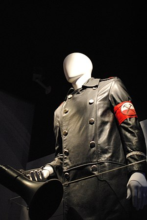 The Wall Tour (1980–81) - Mannequin dressed in one of Waters' costumes from the tour; displayed at the Pink Floyd: Their Mortal Remains exhibition