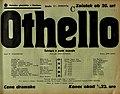 Plakat za predstavo Othello v Narodnem gledališču v Maribor 24. januarja 1940.jpg