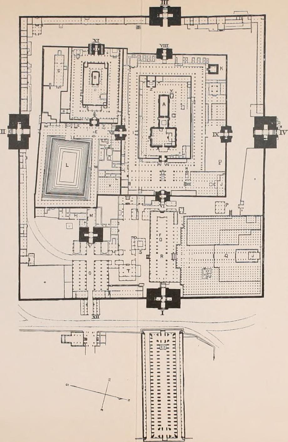 Plan of Meenakshi Amman Temple Madurai India