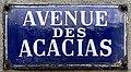 Plaque Avenue Acacias - Le Pré-Saint-Gervais (FR93) - 2021-04-28 - 1.jpg
