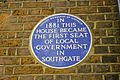 Plaque on house at Southgate Green, London N14 - geograph.org.uk - 789986.jpg