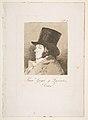 Plate 1 from 'Los Caprichos'- Self-portrait of Goya ( Franco. Goya e Lucientes, Pintor) MET DP816885.jpg