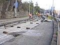 Podolské nábřeží, rekonstrukce trati (01).jpg