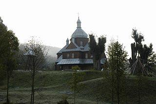 Hoszów Village in Subcarpathian Voivodeship, Poland