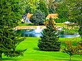 Pond with a Fountain - panoramio.jpg