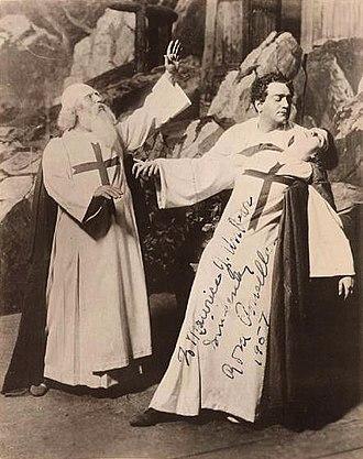 La forza del destino - Enrico Caruso, Jose Mardones and Rosa Ponselle in a 1918 Metropolitan Opera performance.