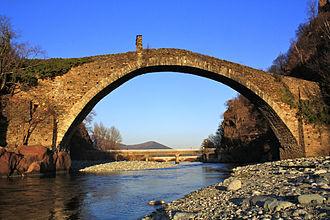 Devil's Bridge - Devil's Bridge (Italian: Ponte del Diavolo) in Lanzo Torinese, northern Italy.