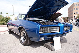 Bumper (car) - Pontiac GTO (1968-1972) designed to absorb impact without permanent deformation at low speeds